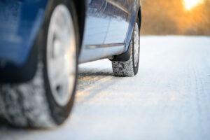 car driving on snow